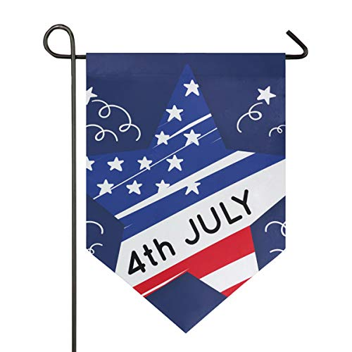 . Juli Star Unabhängigkeit Tag Garten Flagge 30,5 x 45,7 cm doppelseitig dekorative Hofflagge für Zuhause Dekoration Outdoor, Polyester, Multi, 12x18.5 ()
