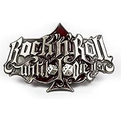 Hebilla cinturón Buckle Rock'n Roll until I die Rockabilly Rumble59