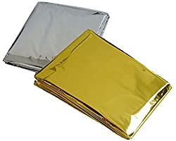 Emergency Survival Blanket Space Blanket Camping Reflective Thermal First Aid Foil Blanket 5 Pcs Silver+gold