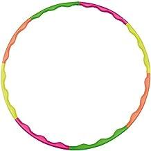 Hudora 76391 - Aro de gimnasia, color verde, naranja, amarillo y rosa