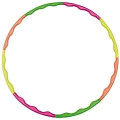 Idea Regalo - Hudora, Cerchi hula hoop, Verde (grün,orange,gelb,pink), Taglia unica