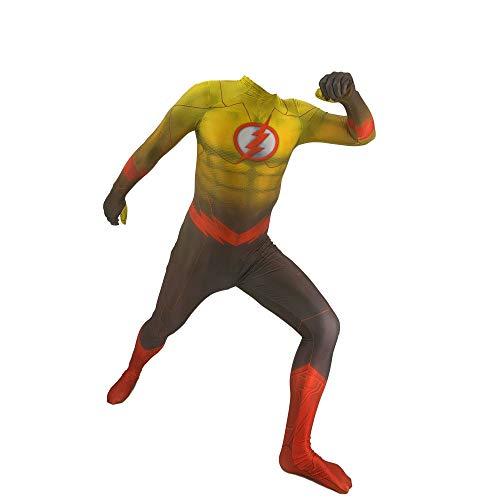 YXIAOL Flashman Spielt Kostüm, Superheld Kostüm, Halloween Party Kostüm, Anime Charakter Performance Kostüm, 3D Lycra Strumpfhose - - Adult Flash Kostüm