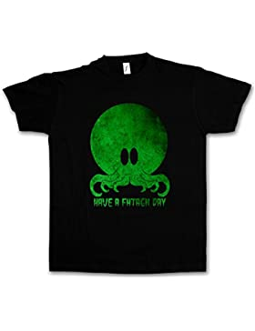 Urban Backwoods Cthulhu Have A Fhtagn Day T-Shirt - Taglie S - 5XL