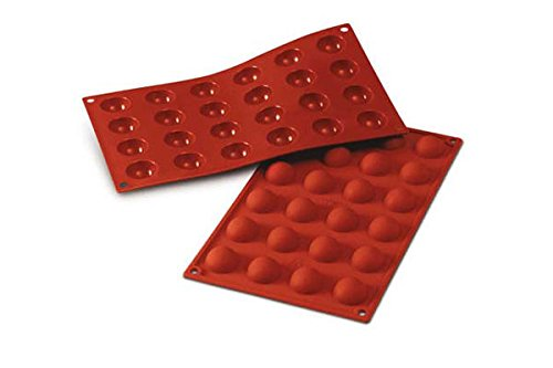 Molde, placa de silicona para bombones redondos, art. SF006