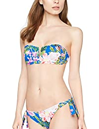 Iris & Lillly Reggiseno Bikini a Fascia Donna