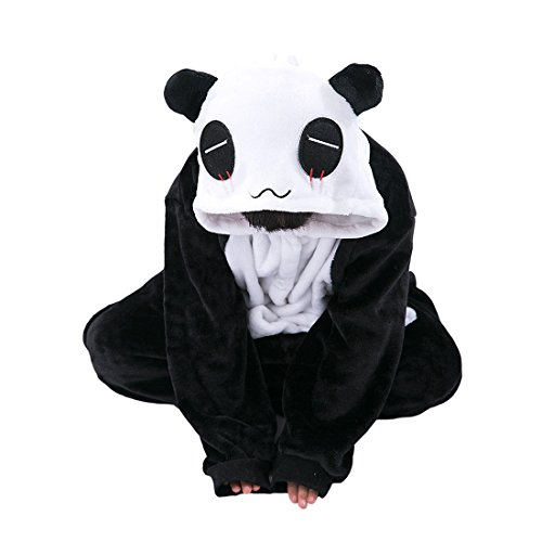 DarkCom Cartoon Kinder Kostüme Neuheit Jumpsuit Mädchen, Jungen, Homewear Tier Onesies Nachtwäsche (Kostüme Panda Mädchen)