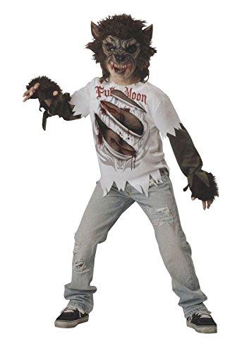 Generique - Werwolf Kostüm für Kinder 140/146 (10-12 Jahre) (Weiße Werwolf Kinder Kostüm)