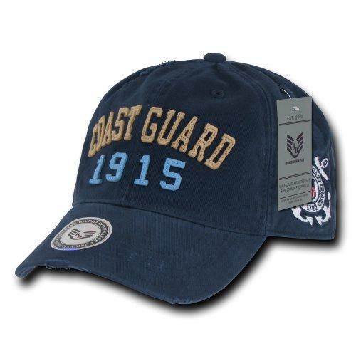 rapiddominance Coast Guard Vintage Athletic Cap, Navy Athletic Vintage Cap