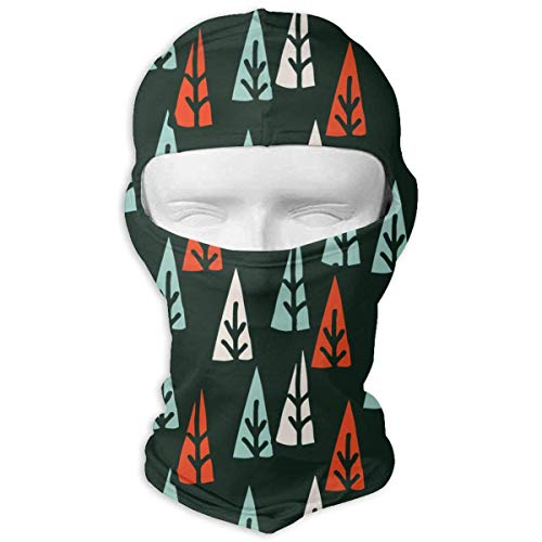 Redken Mens Mint (Pizeok Wind-Resistant Balaclava, Holiday Trees Red and Mint Christmas Ski Mask for Hunting Cycling Design18)