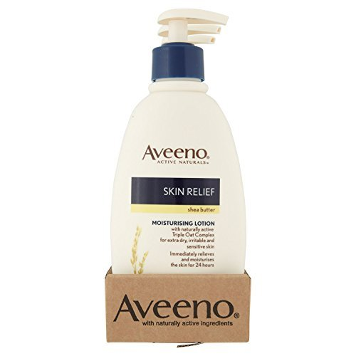 6 x Aveeno Skin Relief Moisturising Lotion Shea Butter 300ml -