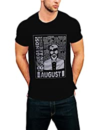 PRINT OPERA Latest And Stylish Men's Round Neck T-Shirt Black, White, Grey Melange And Navy Blue Color- Legends...