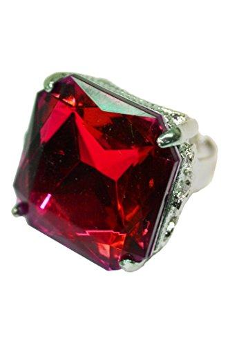 Ring quadratisch in rot (Erwachsenen König Kostüme)