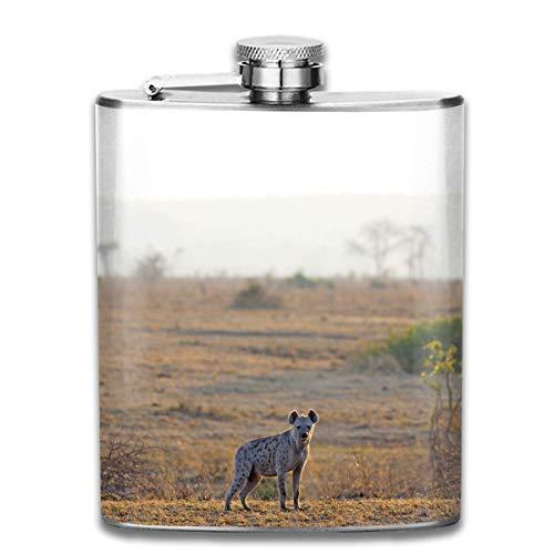 Edelstahlflaschen 7 Unzen Hyäne-in-Sonnenaufgang-Whiskyflaschen-Flachmann-Leck-Beweis Wein-Mann-Frauen