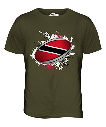 CandyMix Trinidad Und Tobago Rugby Ball Herren T Shirt Khaki Grün