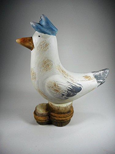 Möwe mit Anker Mütze 18 x 15 cm Maritim See Vogel Nordsee Figur Deko GWU 19561