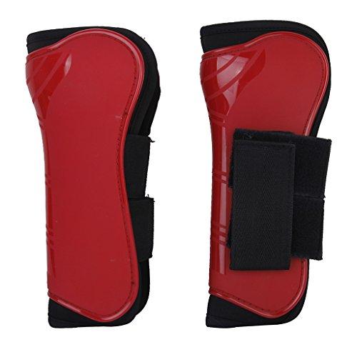 1 Paire Guêtres Equipements de Protection Soutien de Jambe Avant pour Cheval (Rouge)