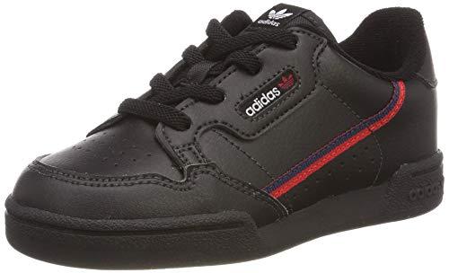 adidas Unisex Baby Continental 80 I Sneaker, Schwarz (Core Black/Scarlet/Collegiate Navy 0), 24 EU Baby-sneaker
