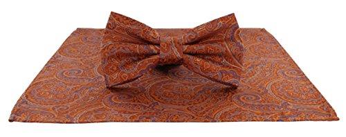 Michelsons of London Herren Set Einheitsgröße Gr. Einheitsgröße, Orange (Pocket Tie Hankie-set)