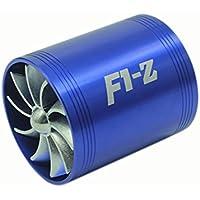 KKmoon Turbina Supercargador Turbo Ventilador Combustible Gas Saver Entrada de Filtro de Aire Simple / Doble Universal