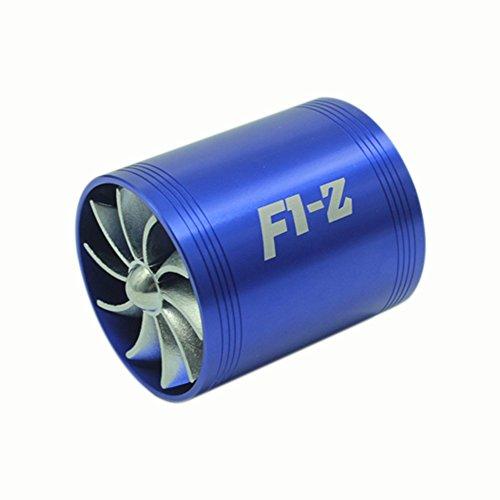 KKmoon Lufteinlass, Luftfilter, Einzel-/Doppelturbinenventilator zum Sparen von Kraftstoff - Turbo Luftfilter