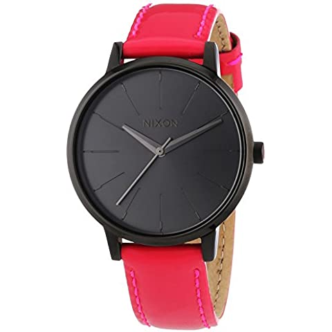 Nixon Kensington Leather Bright Pink Patent A1081394-00 - Orologio da