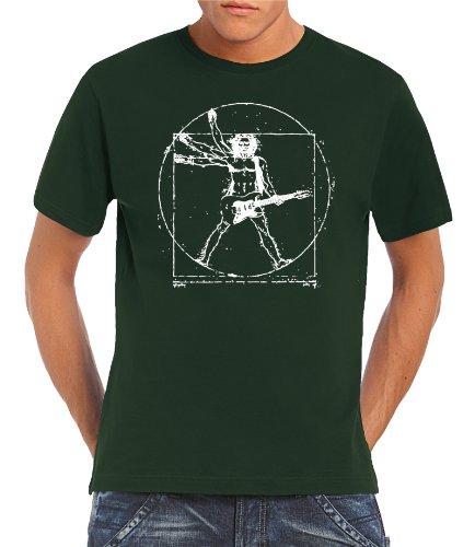 Touchlines Herren T-Shirt Da Vinci Rock Guitar, Bottle Green, L, B210513TS Preisvergleich