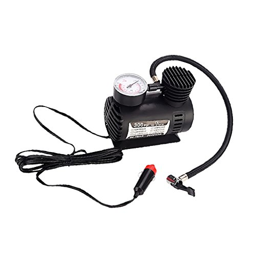 MagiDeal Portable Electric Mini 12V Air Compressor Pump Car Tyre Tire Inflator 300PSI  available at amazon for Rs.1120