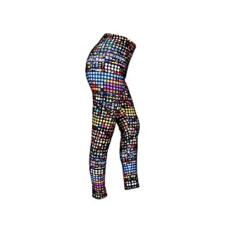 ASVP Shop® Womens Ladies Emoji Full-Length Leggings with Slimming Elastic Waist from Polyester/Elastane - Ideal Tracksuit Bottoms Trousers for Yoga Jogging Casual Leisure Party Fastivals Nights Out