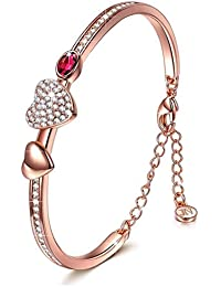 Jewels Galaxy Limited Edition Luxuria Collection Copper Charm Bracelet for Women (Multi-Colour)(BNG-3168)