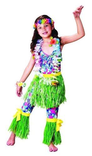 Foxxeo 10090 | Hawaiikostüm für Kinder, (Kostüm Hawaii Mädchen)