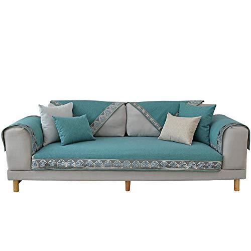 Multi-sofa Schonbezug (Sofa Handtuch Sofa Abdeckung, Multi-Size Schonbezug Sofa Couch Abdeckungen Für Wohnzimmer, Vier Jahreszeiten Möbelschutz Schutzhülle Abdeckung -blau 110x240cm(43x94inch))