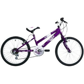 EmmelleDiva Girls\' Mountain Bike Purple, 11\