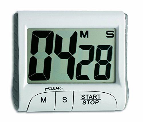 CHARLLEAN Elektronischer Timer mit Stoppuhr, Digitale Küchenuhr elektronischer Küchentimer mit Berührungsempfindlicher Bildschirm LCD Anzeigen, Kurzzeitmesser, Extra Großes Display, Lautem Alarm