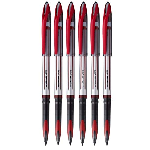 6 x UNI-BALL AIR UBA 188L 0.7mm Penna a sfera 3 colori con Mix & Match opzione DISPONIBILI - Rosso