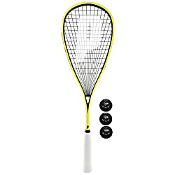 The Prince Pro Rebel 950 squash racket has a higher-performance frame and has been remodelled to give it a fantastic appearance and top performance characteristics. There's plenty of power to be had from the large sweet spot and the racket is easily ...
