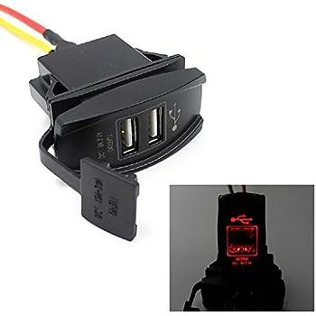 Tefamore 12V 24V Auto Auto Boot Zubehör Dual USB Ladegerät Adapter ...
