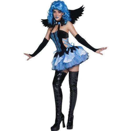 Halloween Damen Kostüm verdorbene Pixie Elfe blau zu Karneval (Verdorben Kostüm)