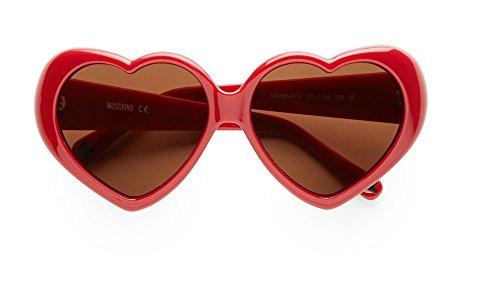 Moschino Damen MO-58501-S Sonnenbrille, Rot (Red), 57