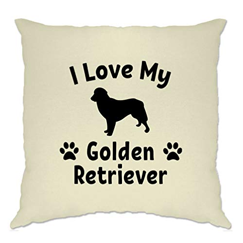 Tim And Ted Hundebesitzer Kissenhülle I Love My Golden Retriever Natural One Size -