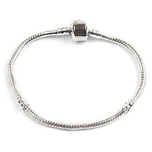 Bling Rocks Bracelet Fermoir Argent Style Pandora à pour on/off diapositive Charms/perles différentes (d'autres tailles disponibles)