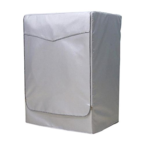 SODIAL(R) Housse de Protection Pour Anti-poussiere Machine a laver Couvercle Durable (argent)XL