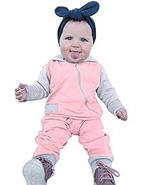 K-youth Ropa de Niña Invierno en Oferta Ropa para Bebe Niño Recien Nacido  Cremallera Diagonal Sudadera con Capucha de Manga Larga… 6bb72616ee5