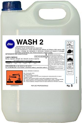 Elios - WASH 2 detergente lavastoviglie industriali kg.6 - cartone 4 taniche kg.6