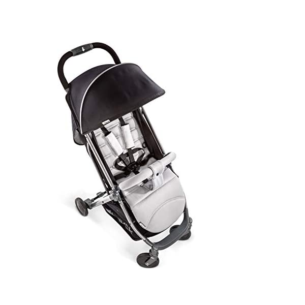 Hauck Swift Plus, Compact Pushchair with Lying Position, Extra Small Folding, One Hand Fold, Lightweight, Carrying Strap, from Birth Up To 15 kg, Silver/Charcoal Hauck EASY FOLDING - This pushchair is as easy to fold away as possible - the comfort stroller can be folded with one hand only within seconds, leaving one hand always free for your little ray of sunshine LIGHTWEIGHT - This pushchair can not only be folded away very compactly, but also easily transported by its carrying strap thanks to its light weight and aluminium frame COMFORTABLE - Backrest and footrest are multi-adjustable, the hood extendable. In addition, the pushchair comes with suspension, swiveling front wheels, soft padding, and large shopping basket 8