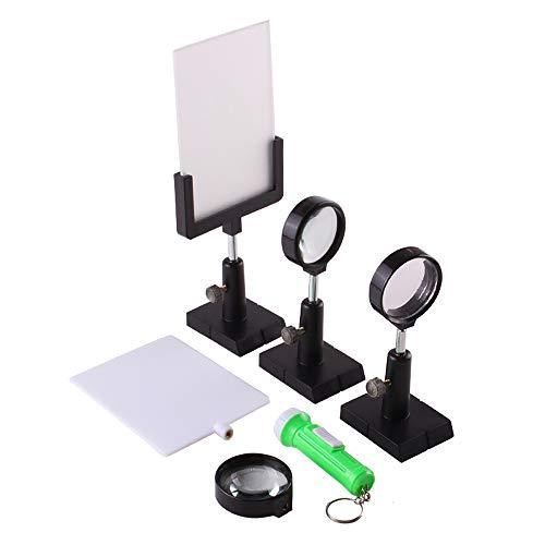 Optik Körperliches Experiment Ausrüstungs Konvexe Linse Konkave Linse Mattglas Helle Bildschirm Lichtquelle Und Klammer Optische Ausrüstung