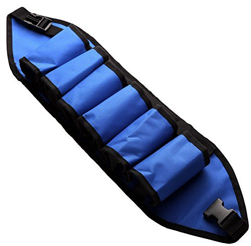 Getränke Halter Gürtel für 6x Bier Dosen Flaschen Biergürtel Blau