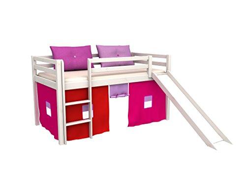 Letto per bambini con scivolo,cameratta bambino letto,letto a castello,materasso , molti colori