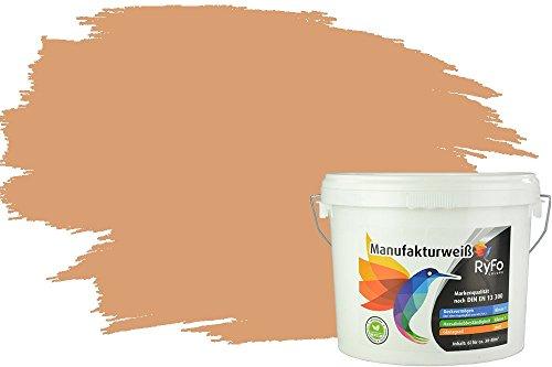 RyFo Colors Bunte Wandfarbe Manufakturweiß Ocker 6l - weitere Gelb Farbtöne und Größen erhältlich, Deckkraft Klasse 1, Nassabrieb Klasse 1