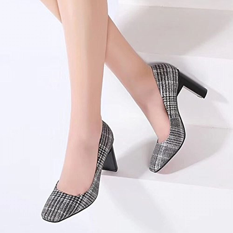 CXY Zapatos de Moda Japoneses Y Coreanos de Primavera Y Verano Cuadrados de Las Mujeres Ásperas con Zapatos de...