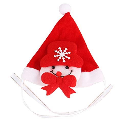 Naisicatar Weihnachten Pet Hat justierbarer Haustier-Hundeweihnachtsschneemann-Stirnband-Weihnachtsschneemann-Hut für Small Medium Hund Katze Haustier Urlaub Kostüm - Urlaub Katze Kostüm